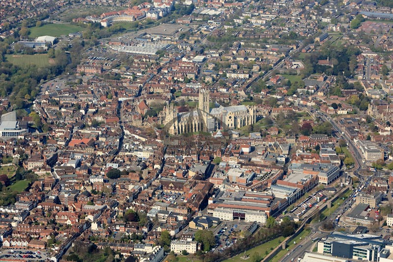 Aerial Photographs Of Canterbury Kent