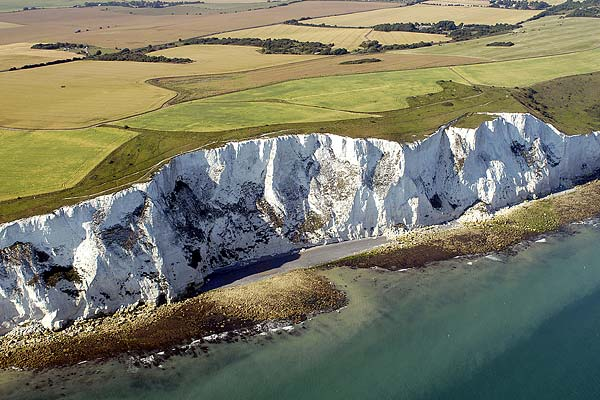 aerial photo of The White Cliffs Of Dover in Kent