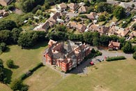 aerial photograph of Eversley College