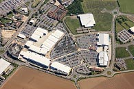 aerial photo of Westwood Cross shopping centre