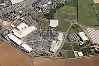 aerial photograph of Westwood Cross shopping centre, Kent
