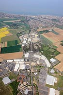 aerial photograph of Westwood Cross