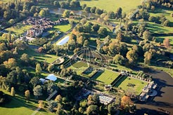 aerial photo of Hever Castle & grounds