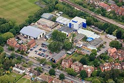 aerial photo of East Kent College, Folkestone, Kent