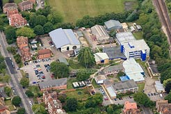 aerial view of East Kent College, Folkestone