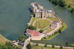 aerial photo of Leeds Castle, Maidstone, Kent