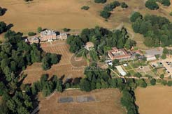 aerial photo Mersham le Hatch with walled garden