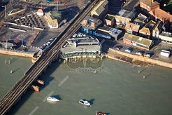 aerial view of Rocksalt Restaurant in Folkestone
