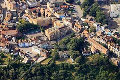 aerial photo of The Bayle, Folkestone