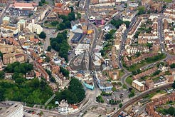 aerial photo of Tontine Street, Folkestone