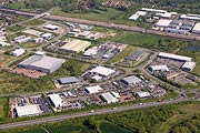 aerial photo of industrial park in Ashford, Kent