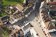 aerial photograph of The Bayle, Folkestone, Kent
