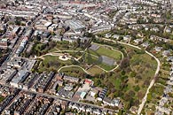 aerial photo of Calverley Park in Tunbridge Wells