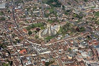 aerial photograph - Canterbury Cathedral