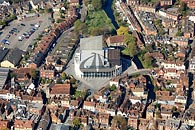 aerial photo new Marlowe Theatre Canterbury, Kent