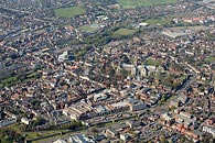 aerial photography of Canterbury Cathedral, Kent