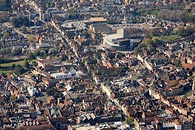 aerial photo of Canterbury Cathedral, Kent