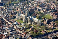 aerial photograph - Canterbury Cathedral and grounds