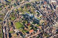 aerial photo Canterbury Cathedral and grounds