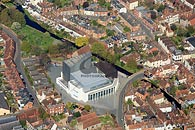 aerial photograph - new Marlowe Theatre in Canterbury