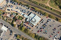 aerial photography of East Kent Audi garage