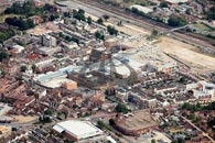 aerial photo of Ashford town centre showing County Square