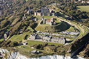 aerial photo of Dover Castle