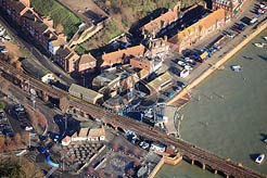 aerial photo of Fish Market, Folkestone