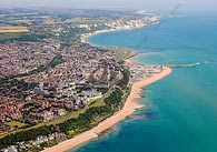 aerial photograph of Folkestone, Kent