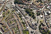 aerial photograph of the Creative Quarter area in Folkestone, Kent
