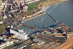aerial photo of Folkestone Harbour