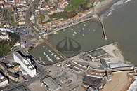 aerial photograph of Folkestone harbour, Kent