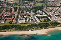Aerial photo of Folkestone from the English Channel