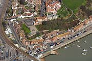 aerial photograph of the old harbour and The Durlocks in Folkestone, Kent