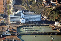 aerial photo of the Grand Burstin Hotel, Folkestone