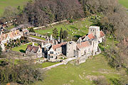 aerial photo of Lympne Castle