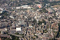 aerial photograph Maidstone town centre.