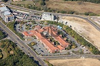 aerial photo of the Hilton Hotel, Maidstone, Kent