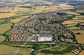 aerial photo Park Farm residential estate, Ashford