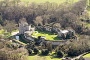 aerial photo of Saltwood Castle in Hythe, Kent