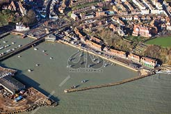 aerial photo of Folkestone Harbour, The Stade and Fish Market