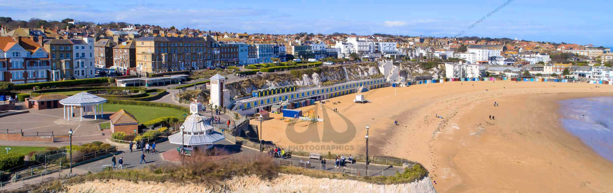aerial photo of Viking Bay, Broadstairs